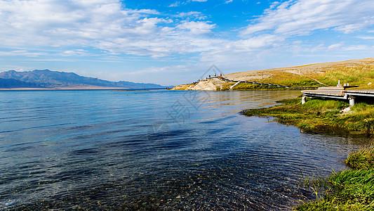 清澈的赛里木湖图片