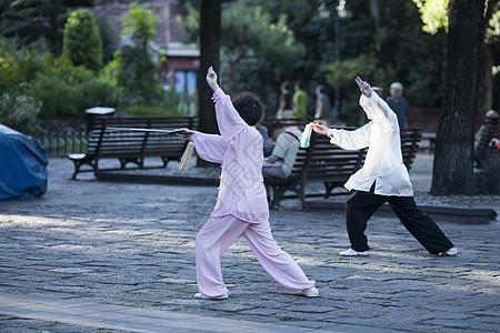 中国传统太极的老年生活 图片