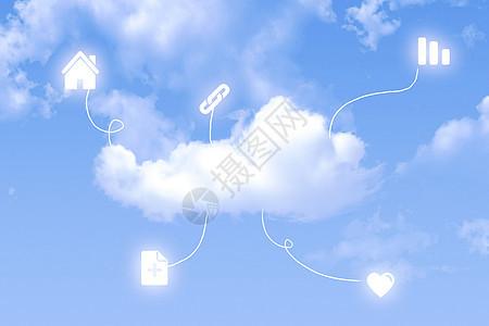 云端上的科技图片