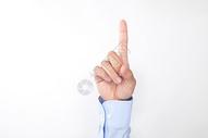 商务男士手指点触动作图片