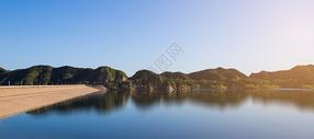 水库大坝全景图图片