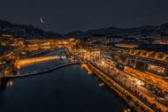 凤凰古城月亮夜景图片