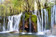 九寨沟瀑布自然风光图图片