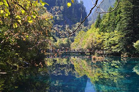 九寨沟五花海风景照片图片