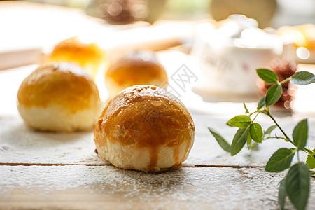 中秋美食传统月饼图片