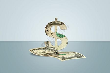 美元上的纸屋图片