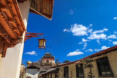 香格里拉大佛寺图片