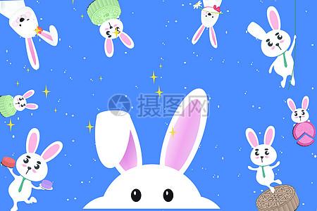 中秋玉兔图片