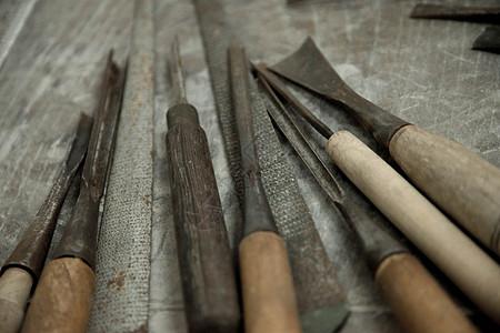 木匠雕刻工具图片