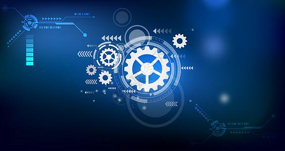 齿轮科技背景图片