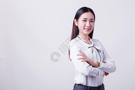 美丽自信职业女性棚拍图片