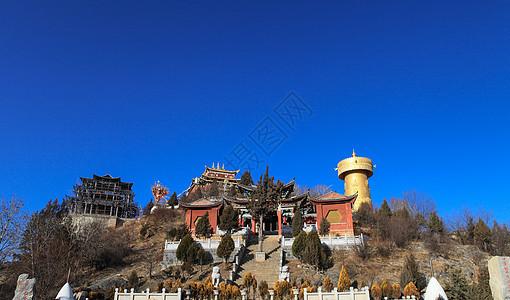 香格里拉大佛寺转经筒图片