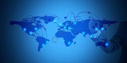 高清大气发光科技金融背景图片