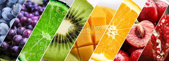 水果的色彩拼接图片