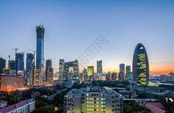 北京CBD中国尊夜景图片