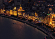 上海城市风光外滩夜景图片