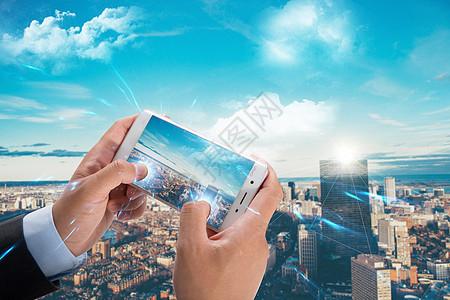 从手机中看城市图片