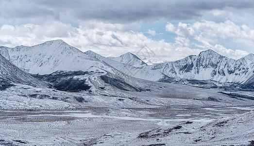 西藏雪山远景图片