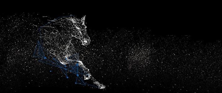 马颗粒科技感背景图片
