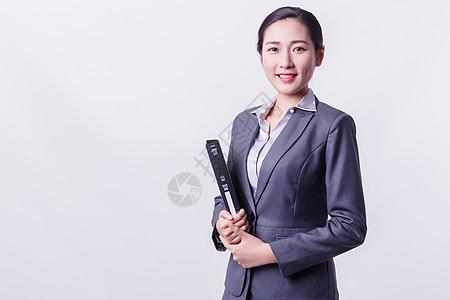 职业女性自信笑容形象图片