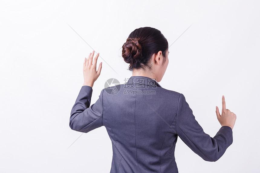 职业女性科技手势背影图片素材_免费下载_jpg图片格式