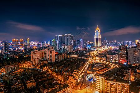 武汉黄昏江汉路步行街佳丽广场图片
