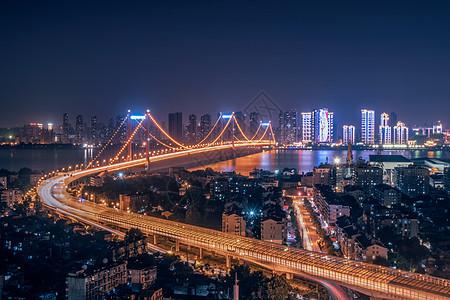 武汉鹦鹉洲长江大桥夜景图片