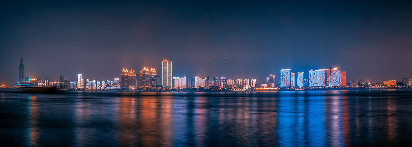 101武汉长江两岸夜景图图片