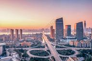 武汉早上长江二桥图片