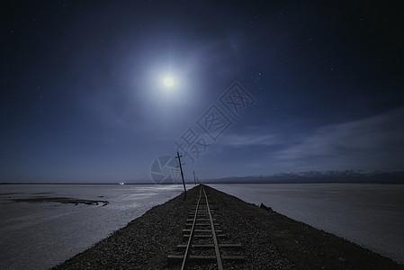茶卡盐湖夜景图片