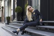 欧美时尚模特街拍图片