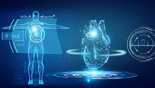 医疗人体心脏解析图片