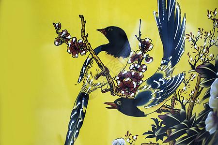 中国元素唐三彩鸟图片