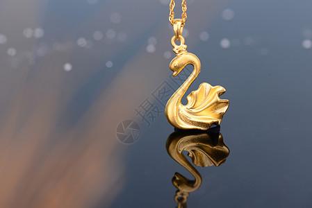 黄金饰品吊坠图片