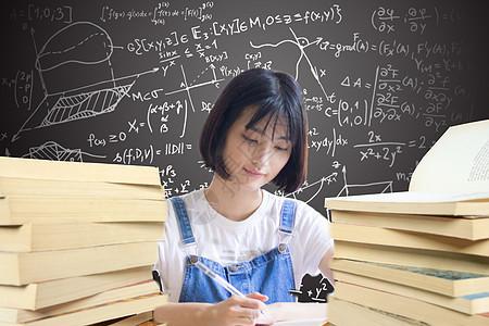 认真学习的女孩子图片