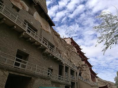 敦煌莫高窟石壁图片