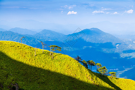 武功山山脉美景图片