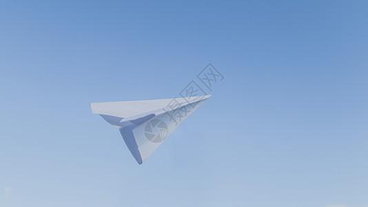 蓝天下的纸飞机图片