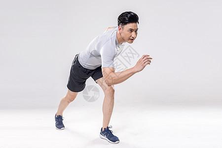 男子跑步动作底图图片