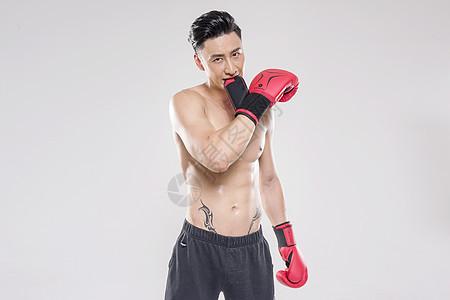 男子拳击动作底图图片