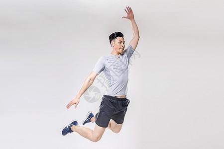 男子跳跃动作底图图片