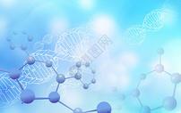 医疗分子科技背景图片