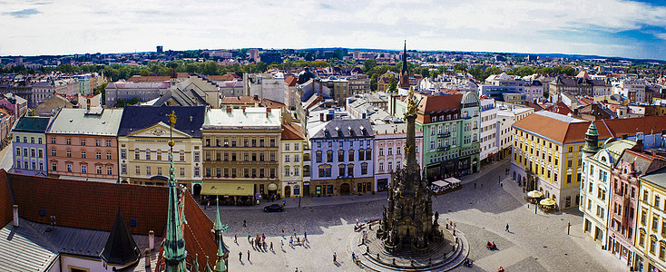捷克小城全景图片