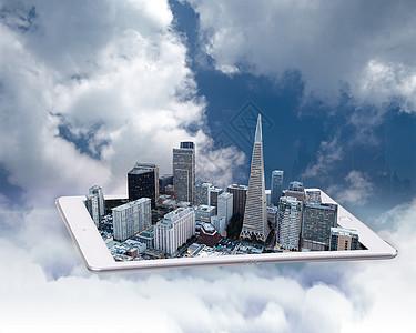 平板上的高楼图片