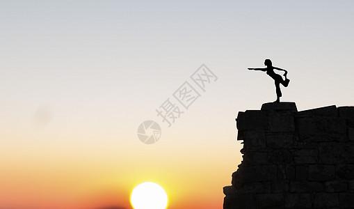 山顶瑜伽图片