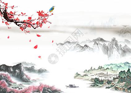 中国风水墨山水画高清图片