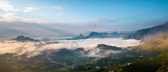 群山云雾图片
