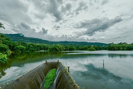 泰国清迈大学静心湖图片