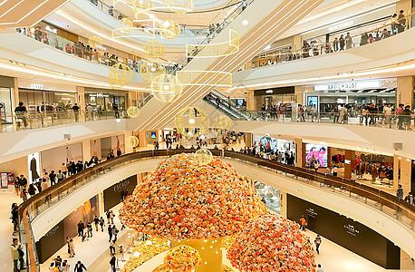 上海万象城中庭商场室内空间图片