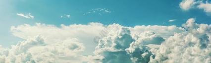 蓝天白云全景图片